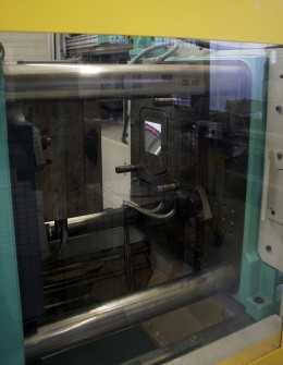 View of a injection molding machine